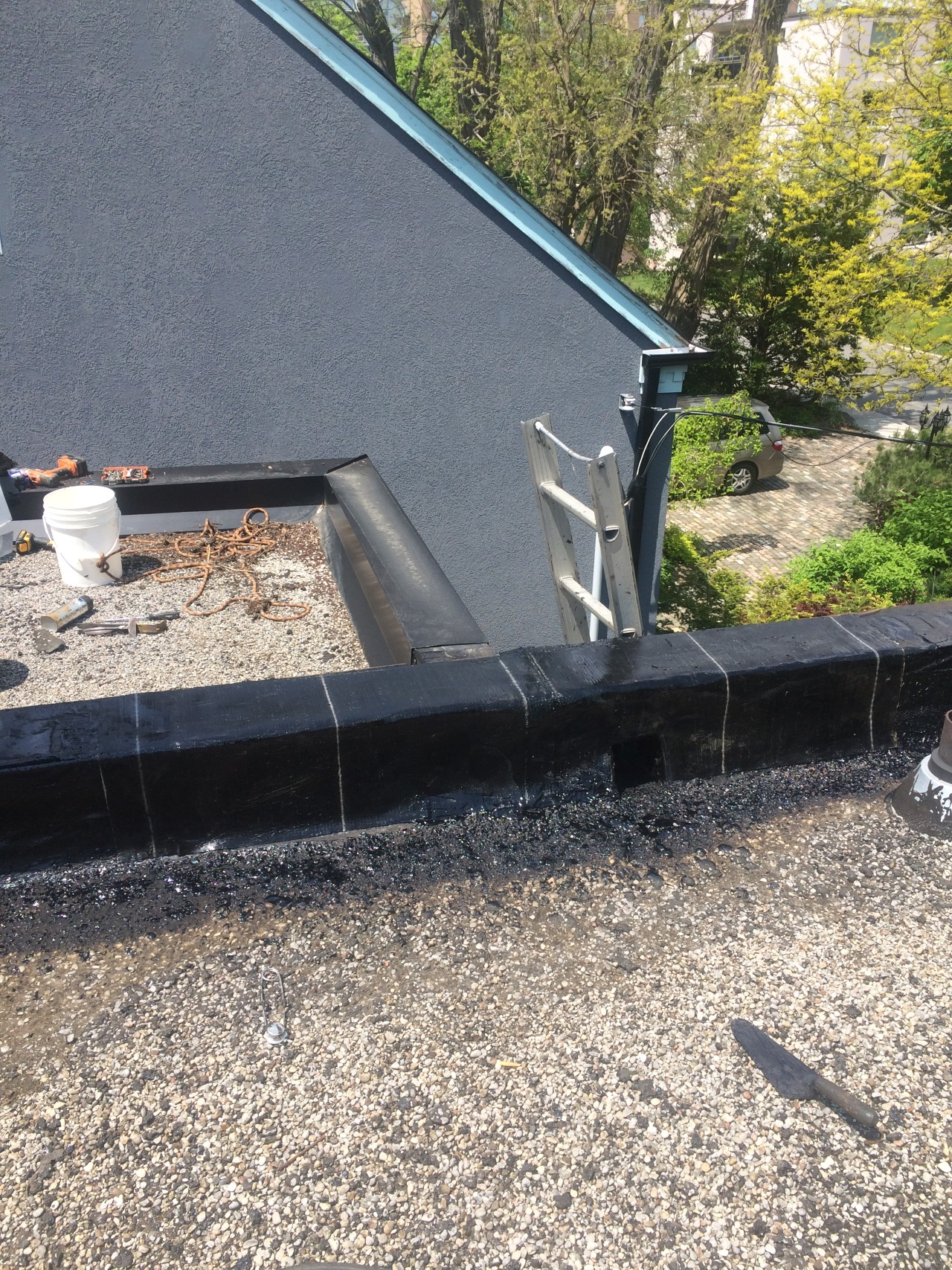 Repairs To Parapet Wall On Flat Roof In Toronto Roofing