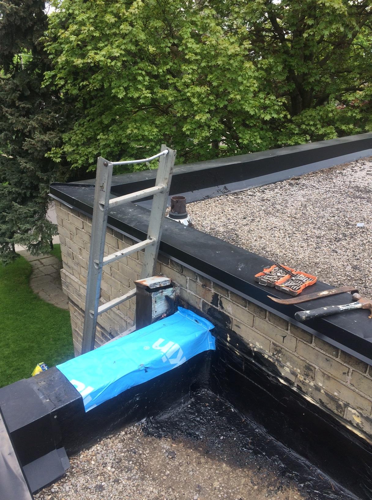 Repairs To Tar And Gravel Roof In Toronto Roofing Repair