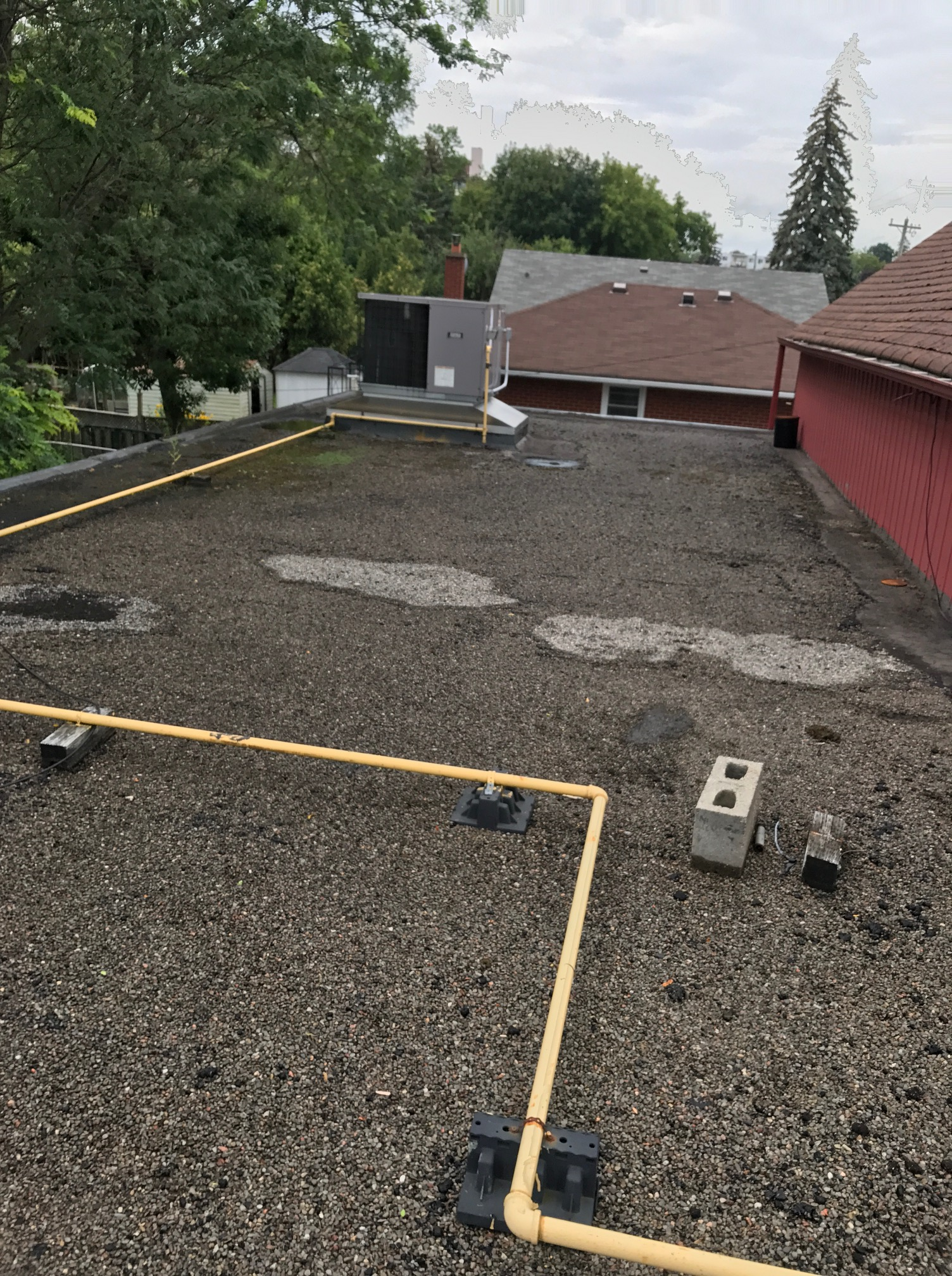 Inspected Tar And Stone Flat Roof Oshawa Roofing Repair