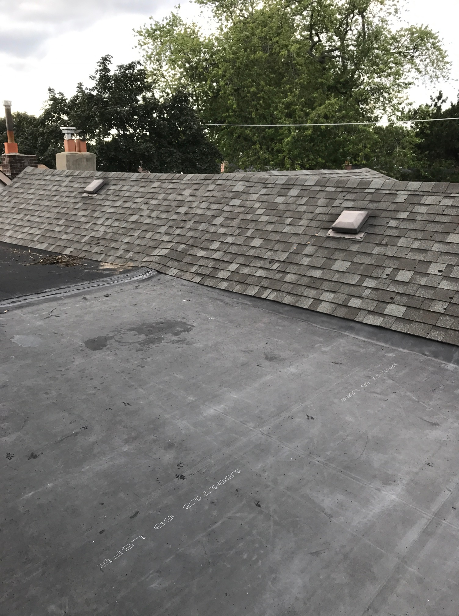 New Single Ply Flat Roof In Toronto Roofing Repair