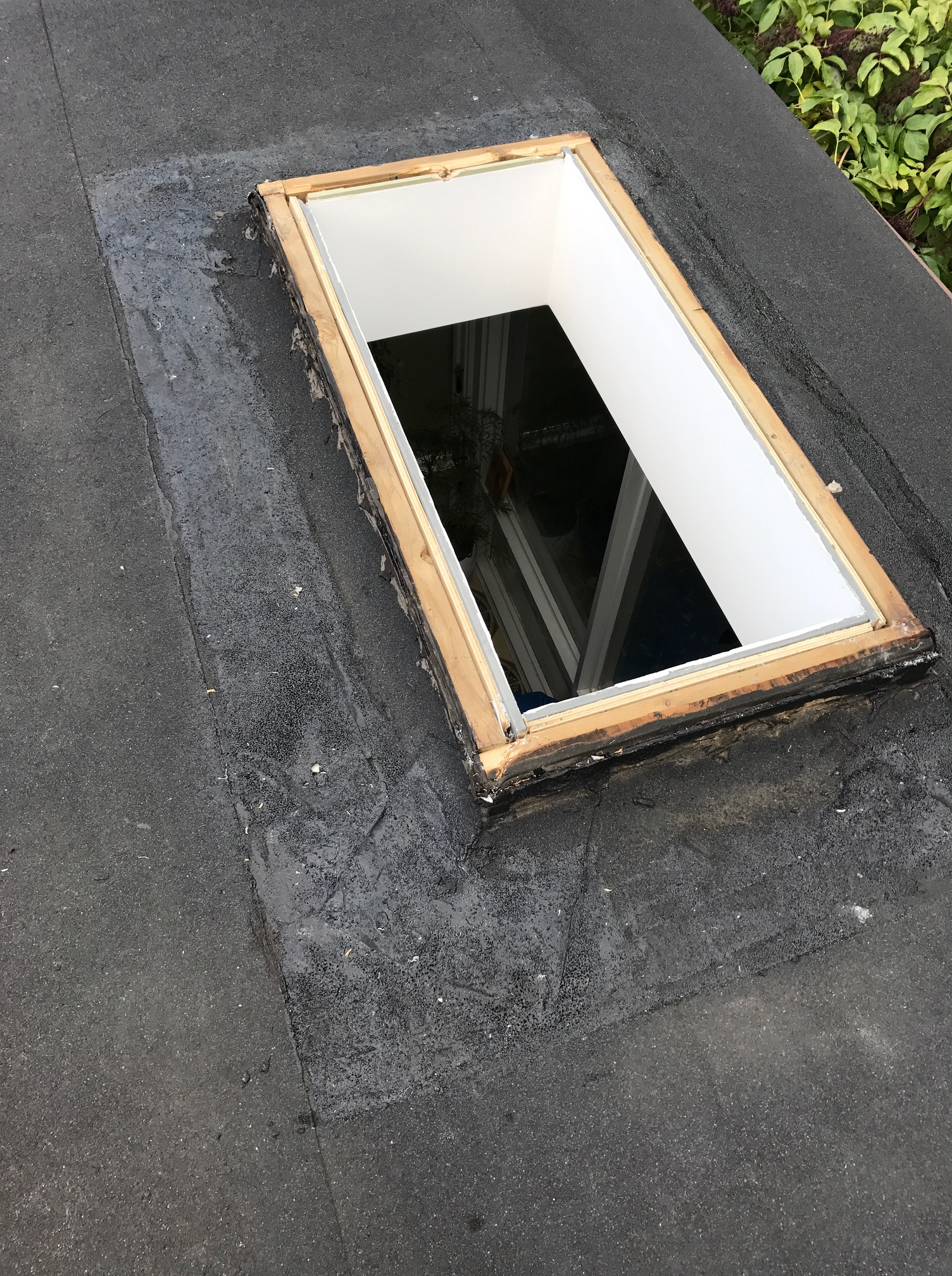 Skylight Replacement On Flat Roof In North York Roofing
