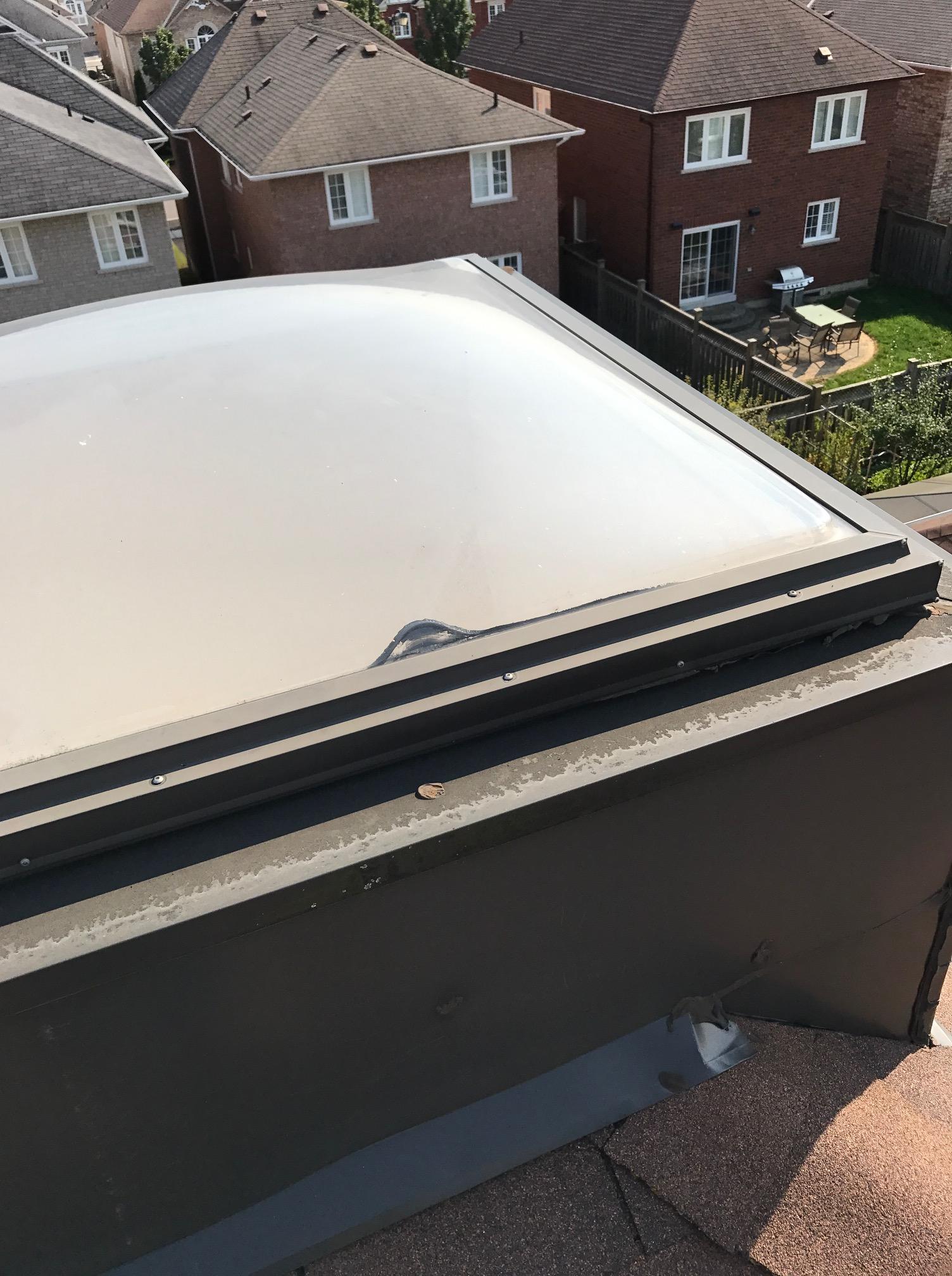 Skylight repair to residential roof Ajax