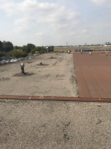 Commercial building flat roof inspection