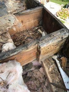 Rotten structural beams flat roof Whitby
