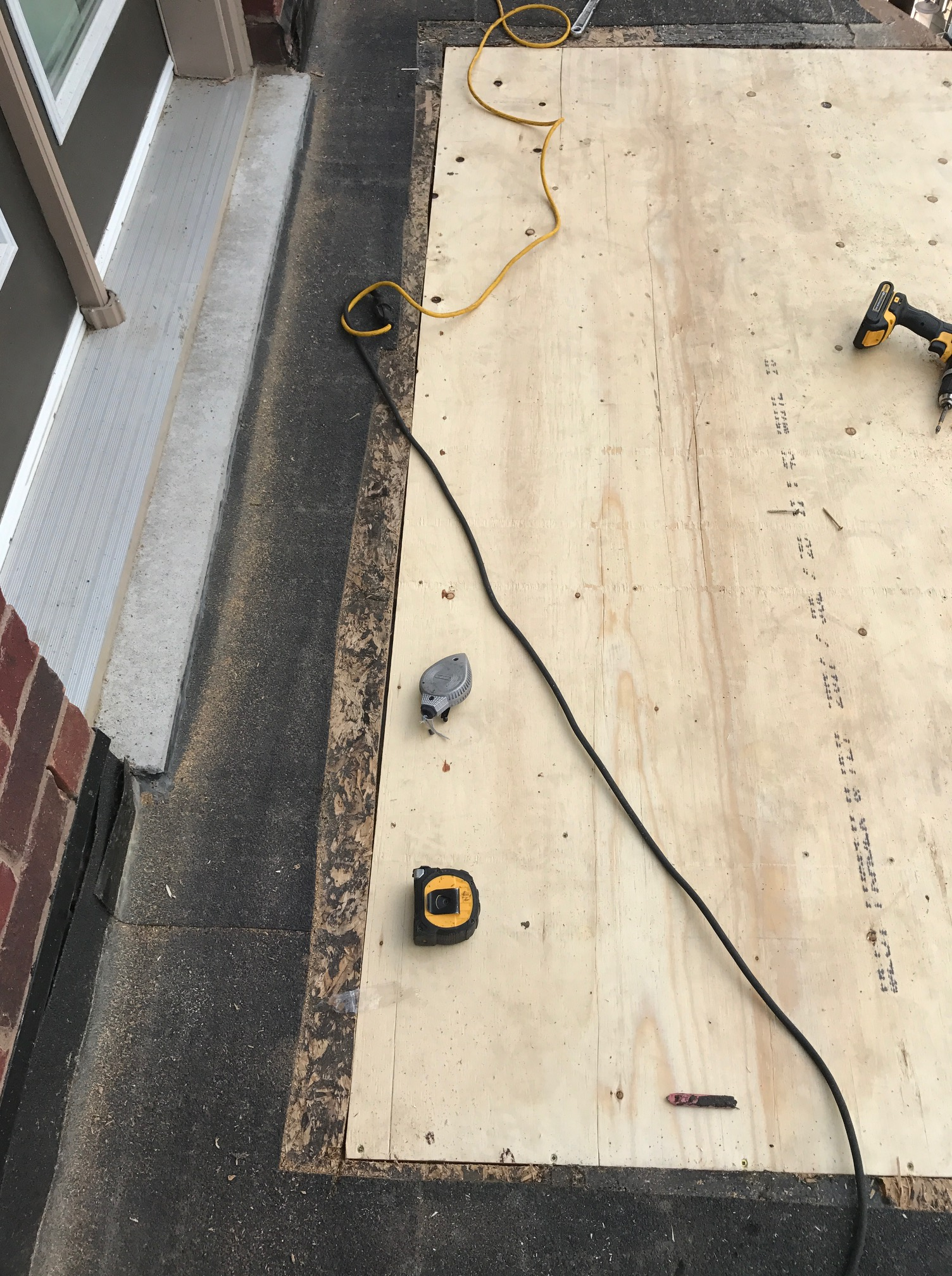 Plywood decking flat roof repair Whitby