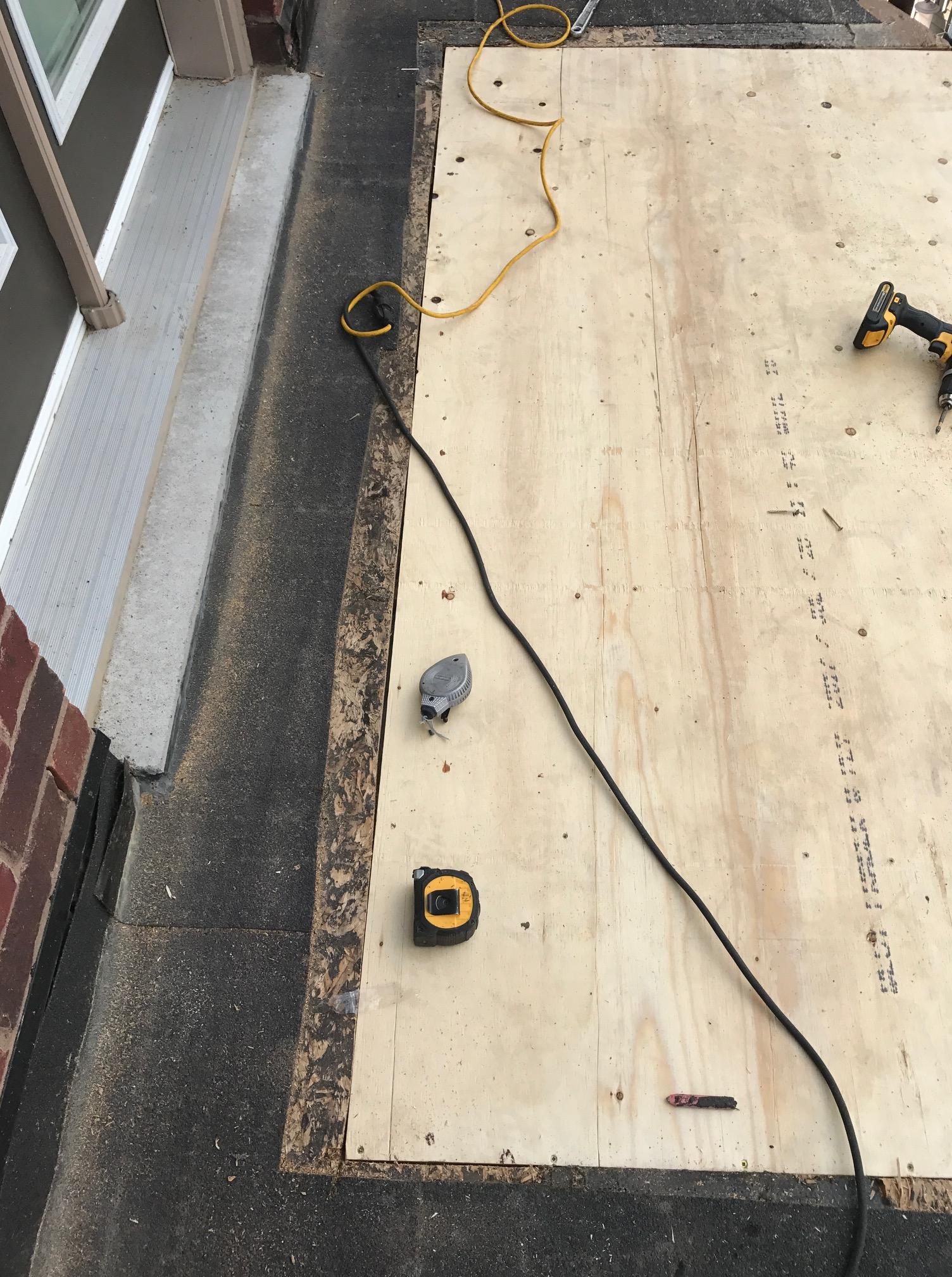 Plywood Decking Flat Roof Repair Whitby Roofing Repair