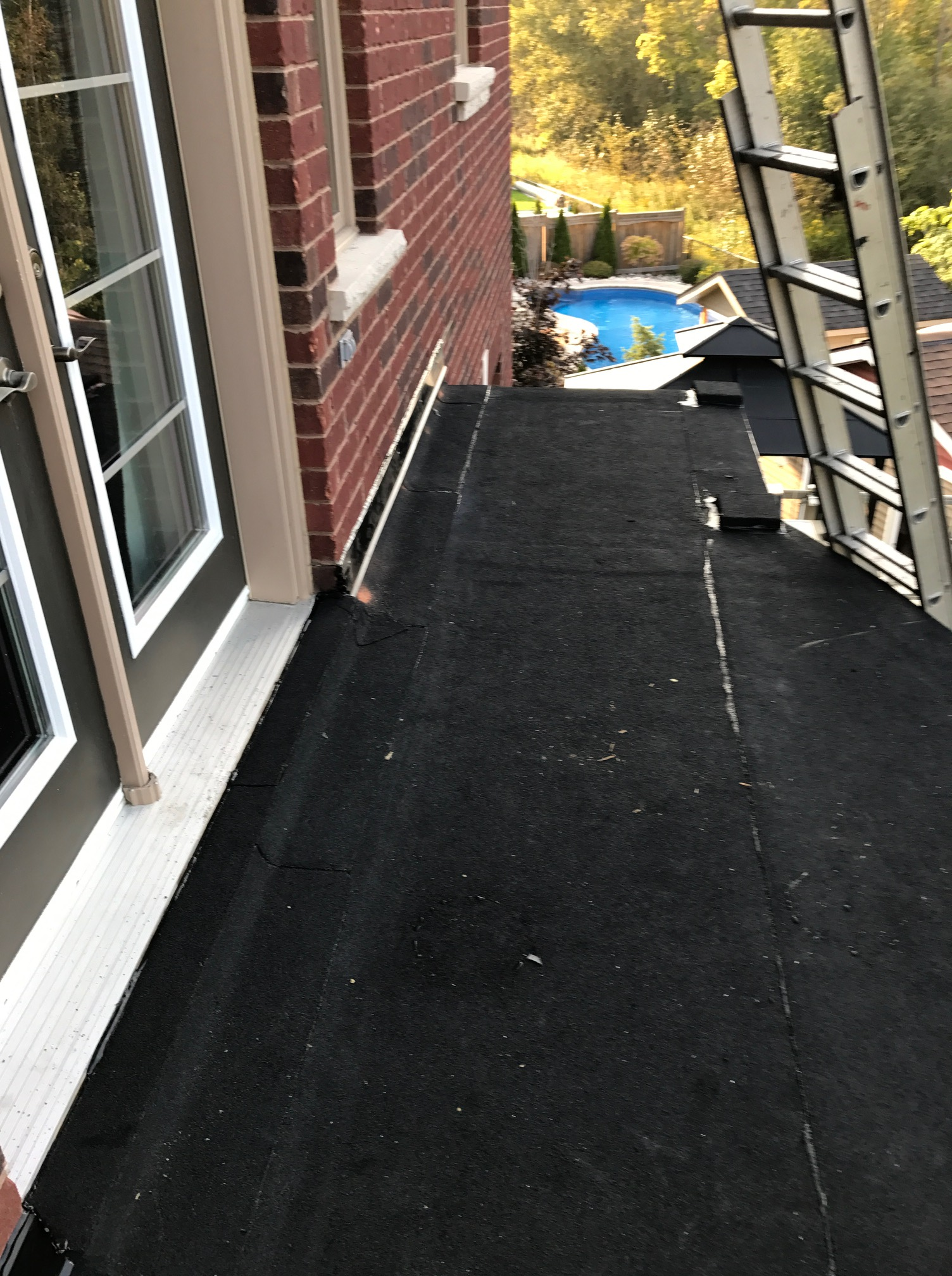 Modified bitumen torch applied flat roof Whitby