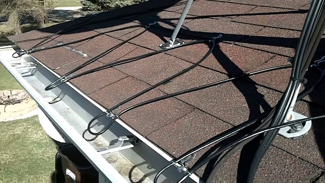 Winterizing your roof against the fluctuating warming and cooling temperatures can be done by installing heating cables on your roof