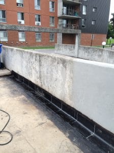 Waterproofing of concrete parking deck in Whitby