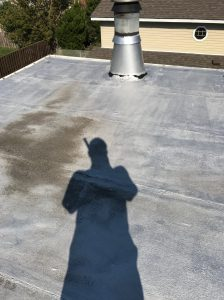 Single ply modified membrane Ajax flat roof