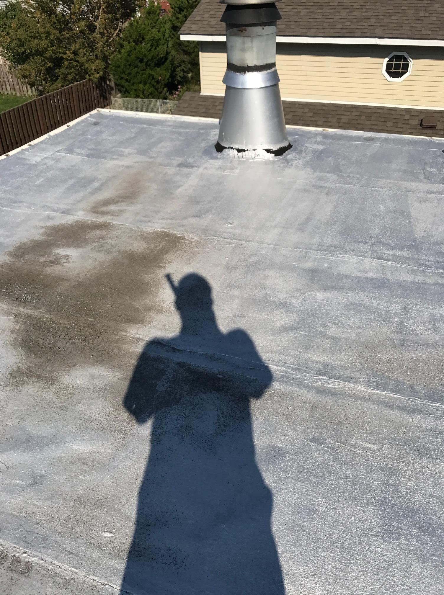 Single ply modified membrane Ajax flat roof