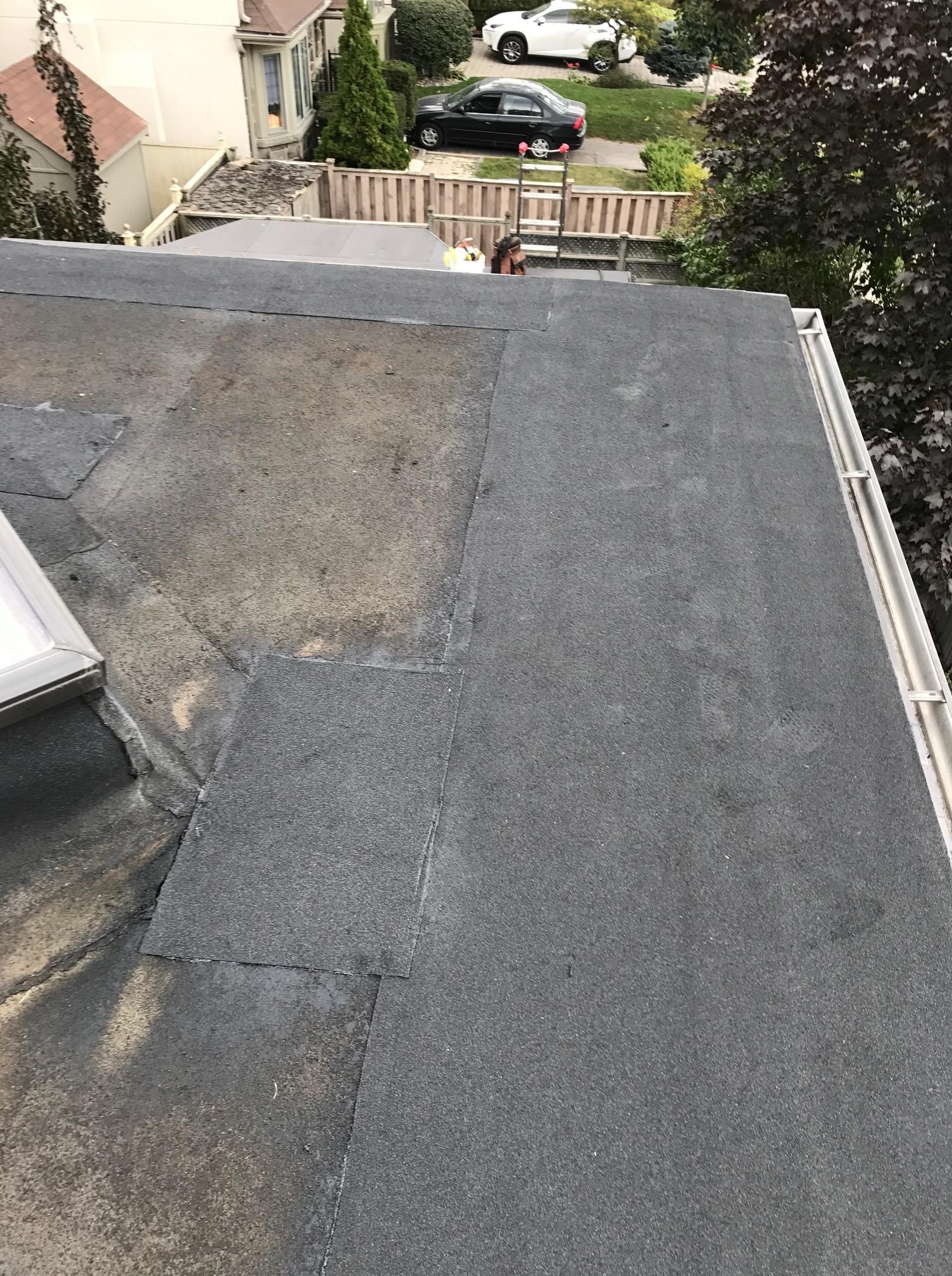 Mineral surfaced Soprema membrane flat Toronto