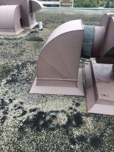 Mechanical units flat roof Toronto