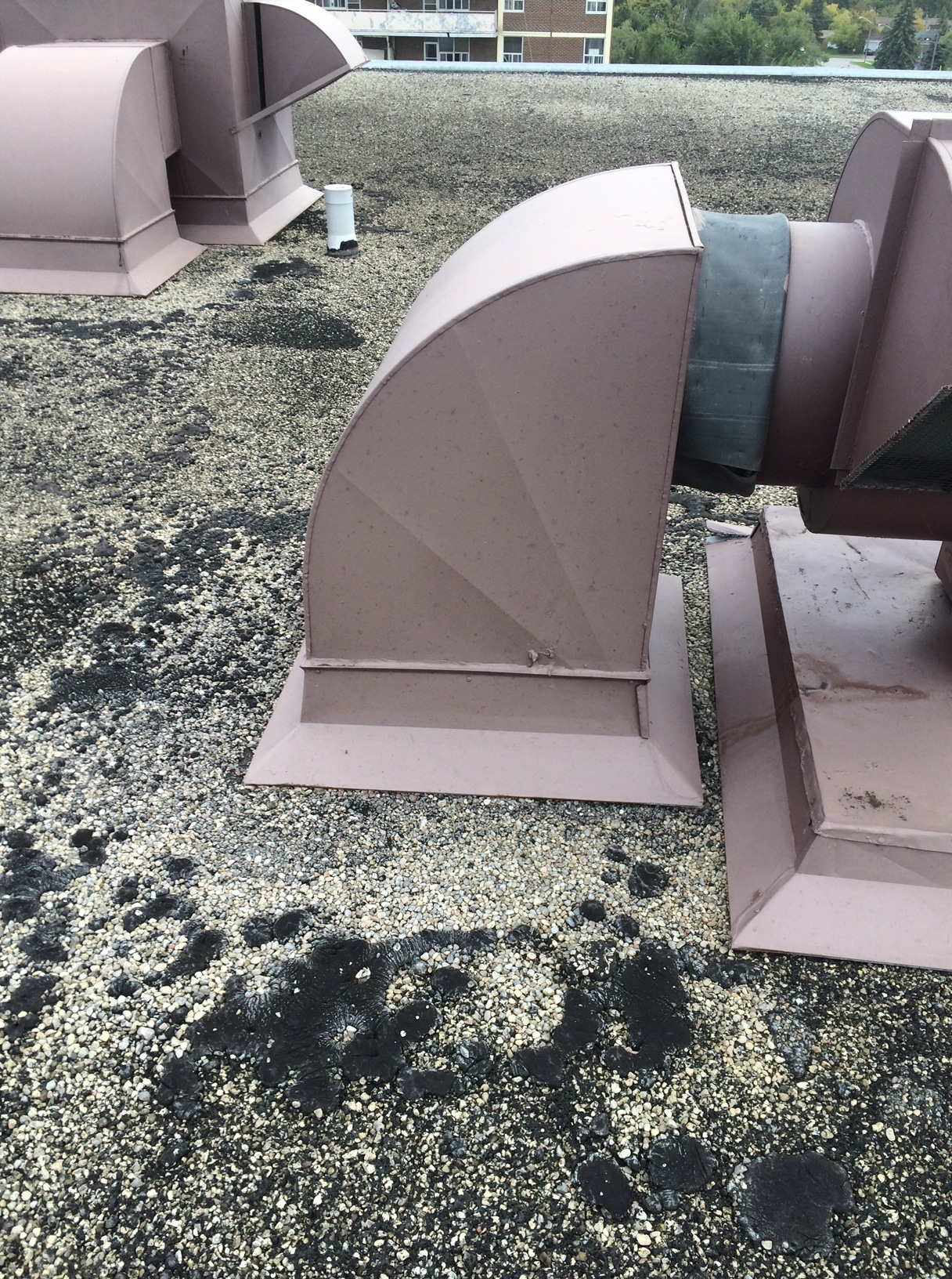 Mechanical units flat roof Toronto