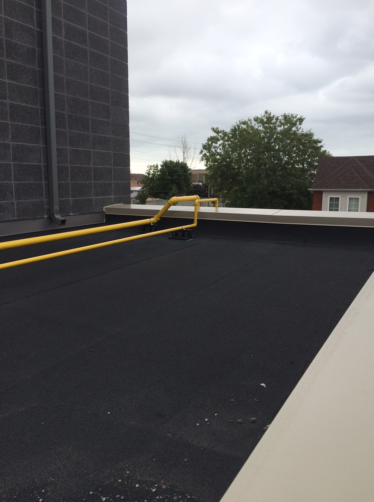 Metal Coping On Commercial Roof Ajax Roofing Repair