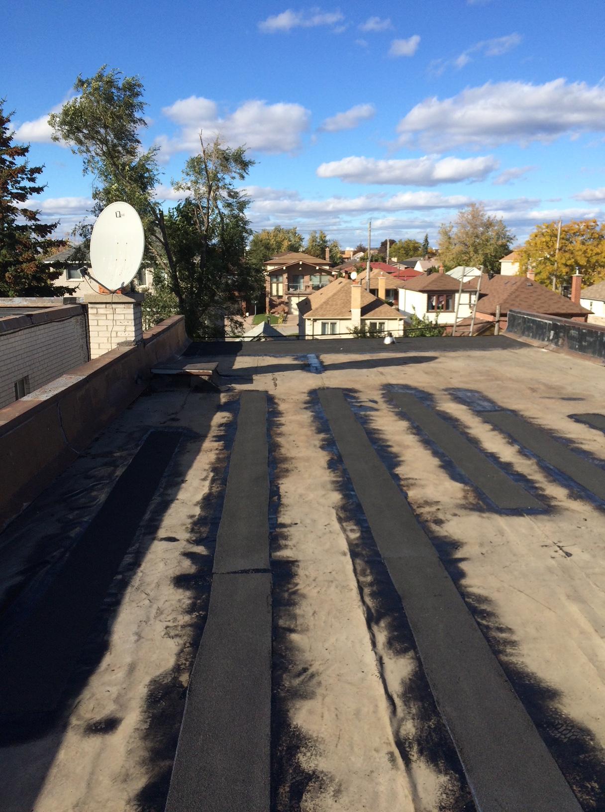 Bituminous torch membrane repairs Toronto