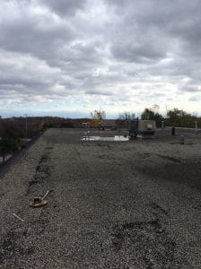 Flat roof inspection in Old Milton