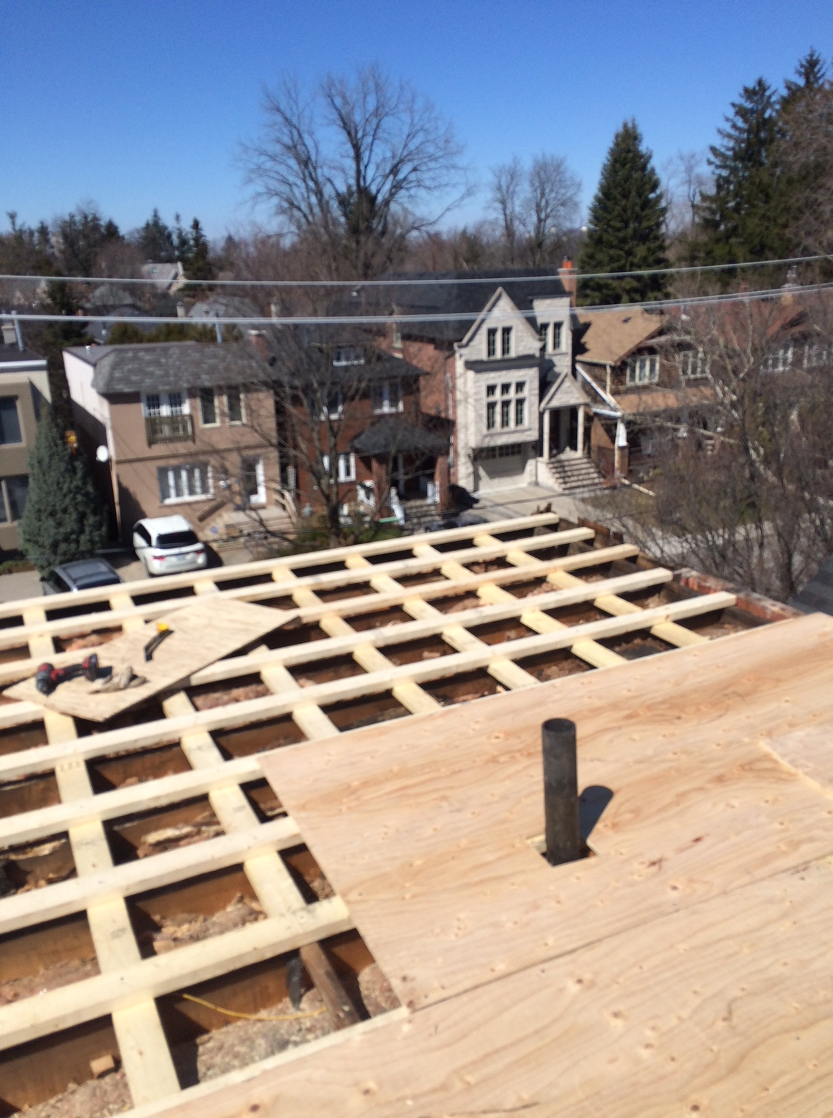 Flat roof renovation in Toronto