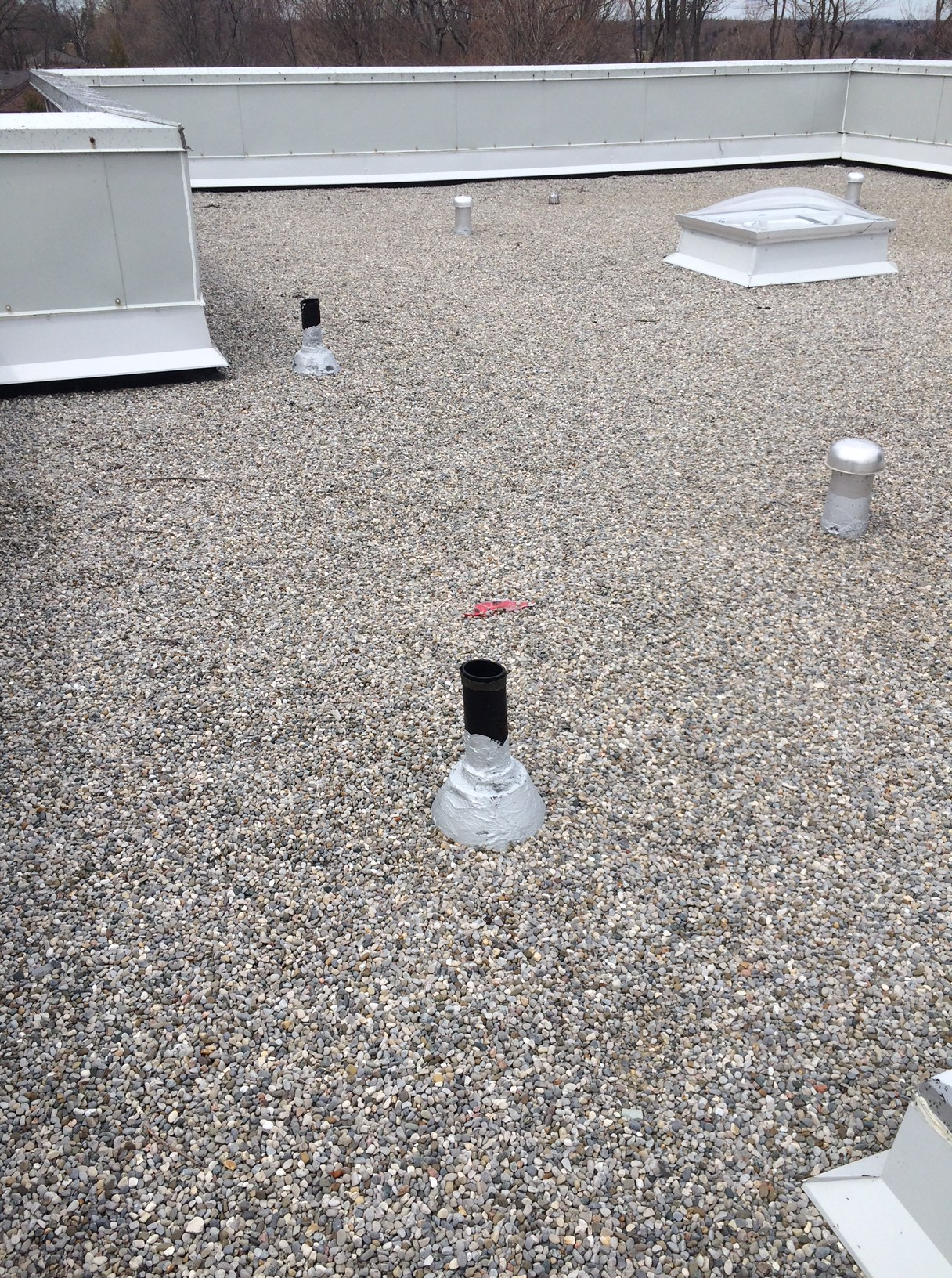 Tar and gravel roofing system in Scarborough