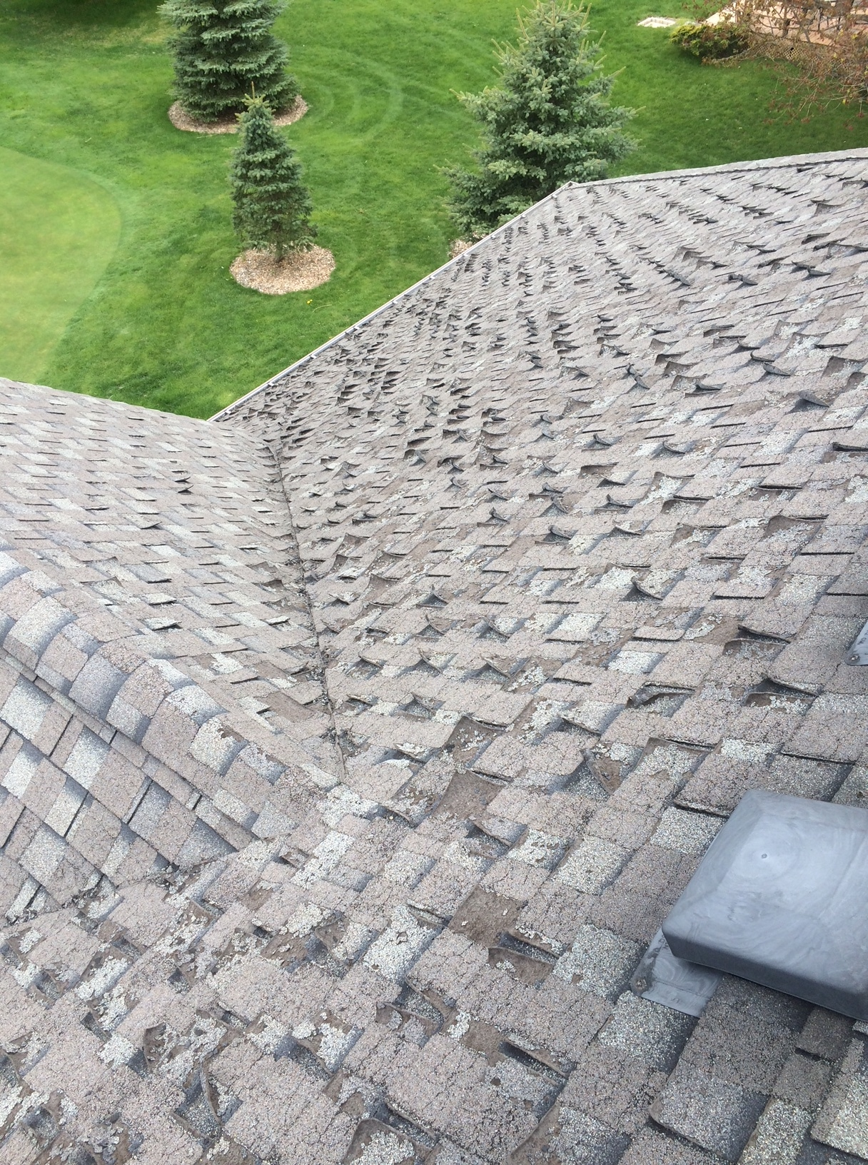 Deteriorated shingles residential home Pickering