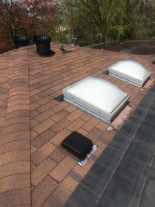 Skylight on shingle roof in Pickering