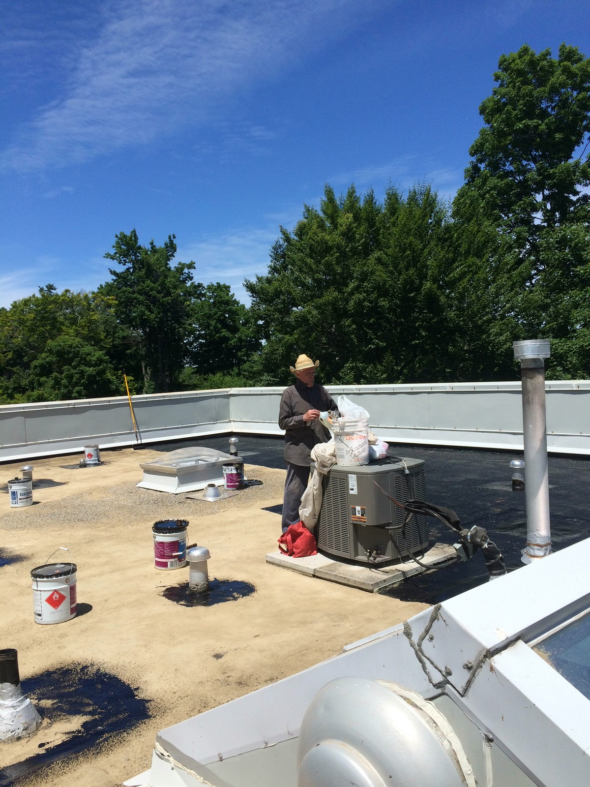 Flat roof replacement in Scarborough