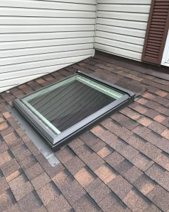 Skylight installation on residential roof in Toronto