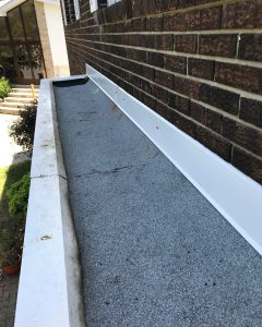 Torch-on membrane roof on residential home in Toronto