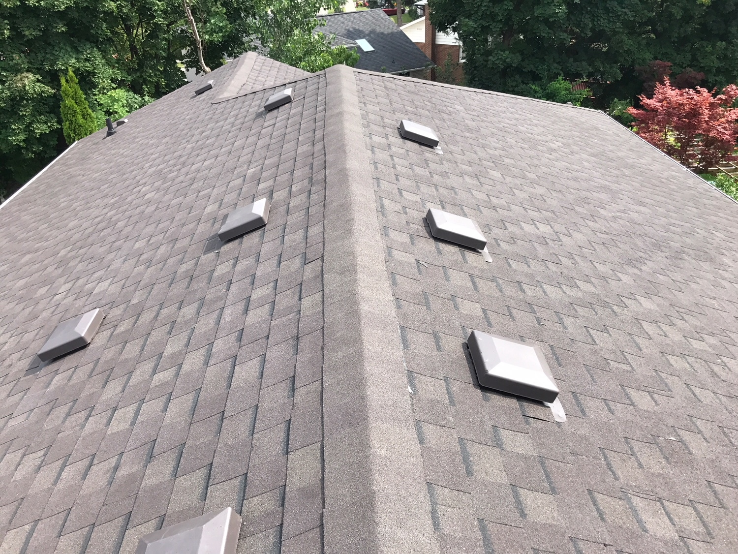 Shingle and roof vent install in Scarborough