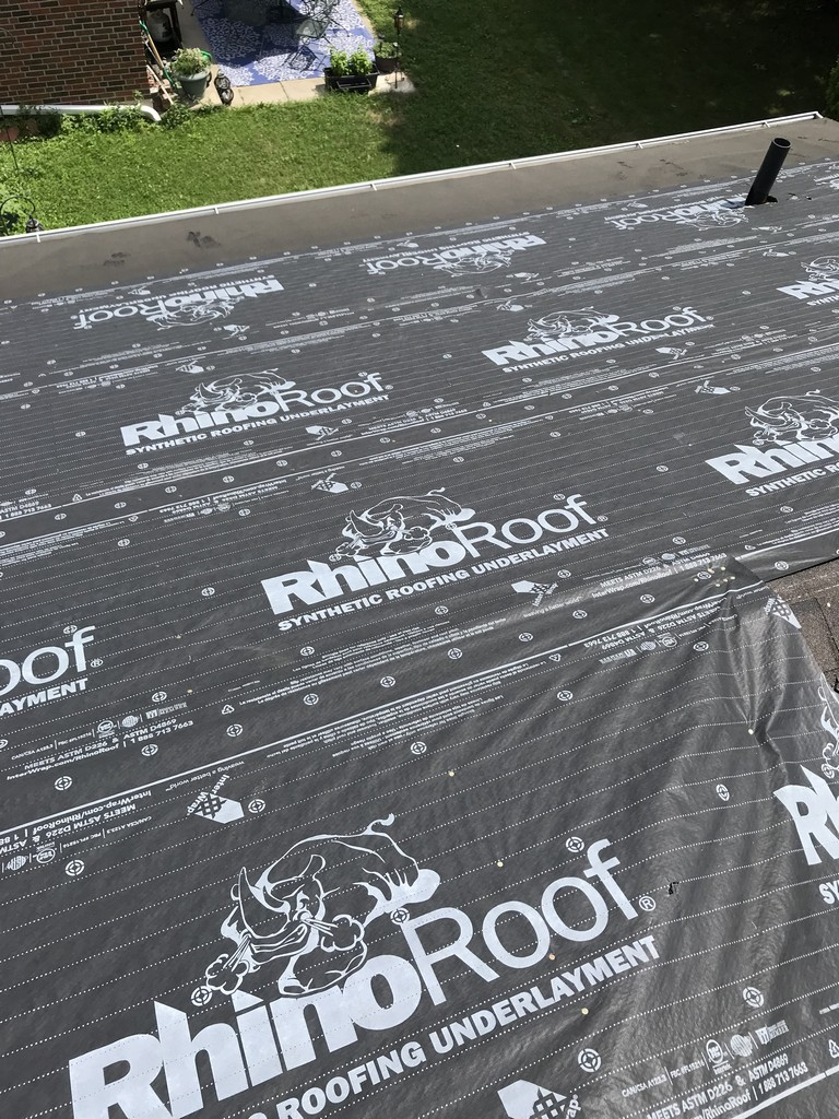 Synthetic underlayment for shingle roof in Toronto