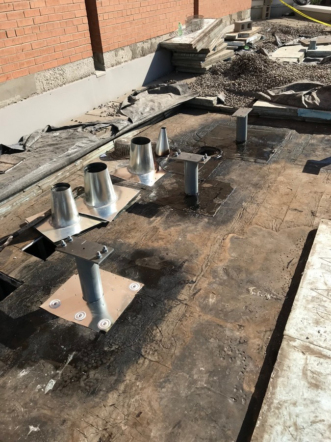 Mechanical installation on apartment building in Toronto
