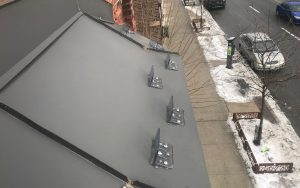 Polar Blox Snow Guards installed on metal roof in Toronto