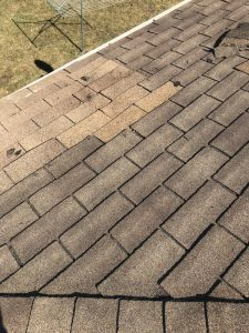 Shingles repairs to slope roof on bungalow roof in Ajax