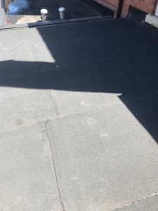 Flat roof repairs on 2 Ply Soprema membrane on flat roof in Toronto