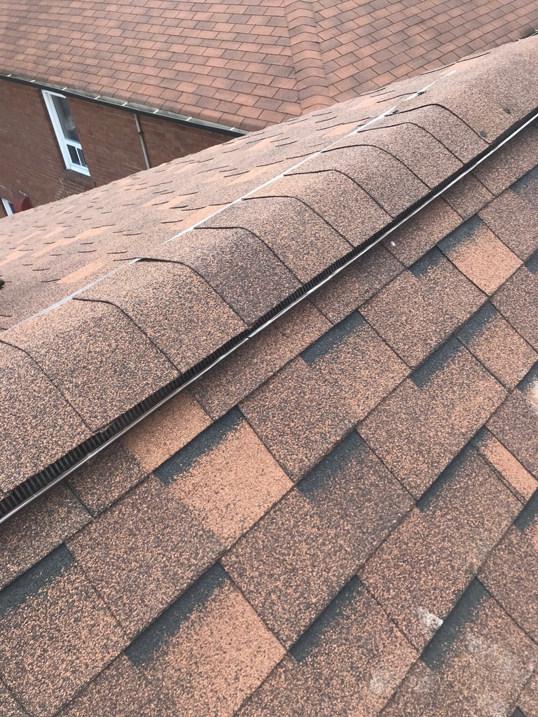 Ridge vent installation repairs in roof in Scarborough