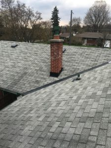 Roof repair at low slope pitch on roof in Scarborough