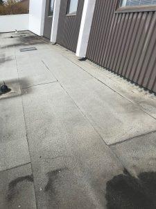 Flat roof repairs to modified bitumen membrane roof in Scarborough