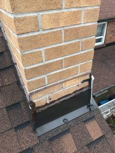 Strategic repairs to chimney flashing on home in Scarborough