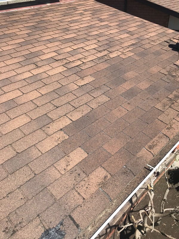 Roof repairs on home in Vaughn using Fiberglas shingles