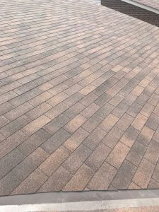 New asphalt shingle install on roof in Scarborough