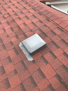Roof repair to plastic breather vent on home on Scarborough