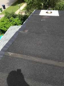 Three inch high dome pipe flange installed on flat roof in Scarborough