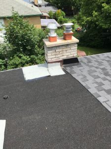 Torch applied roof membrane on flat roof in Scarborough
