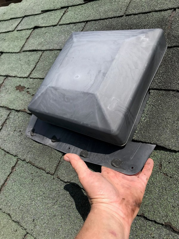 Roof repairs at extruded plastic vent on flat roof in Scarborough