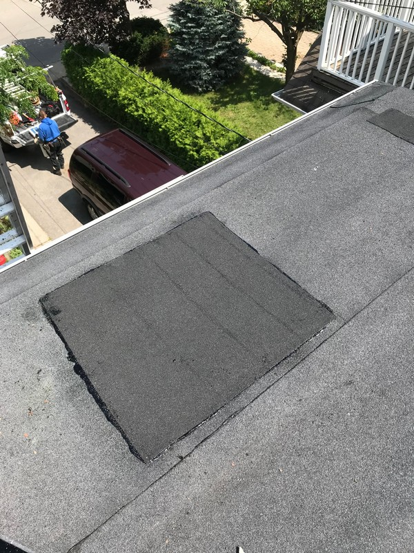 Torch applied membrane flat roof repairs in Scarborough