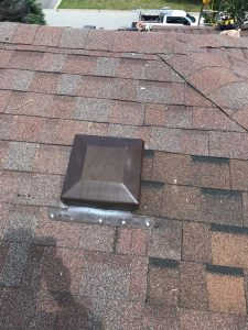 Duraflow standard breather vent install on roof in Pickering
