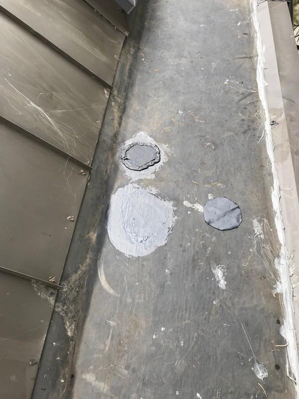 Spot repairs on EPDM flat roof on balcony in Etobicoke