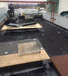 Commercial roofing application in Pickering by Metro Roofing
