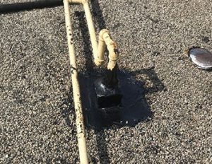 Rubberized Sealant Flat Roof Repair by Metro Roofing